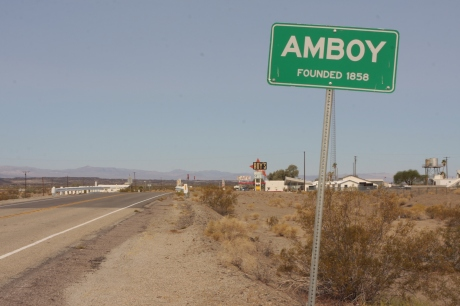 Entering in to Amboy.