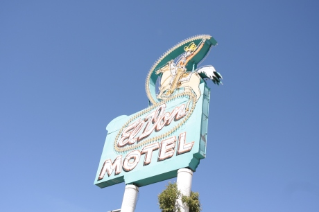 An old motel still in business in Albuquerque.