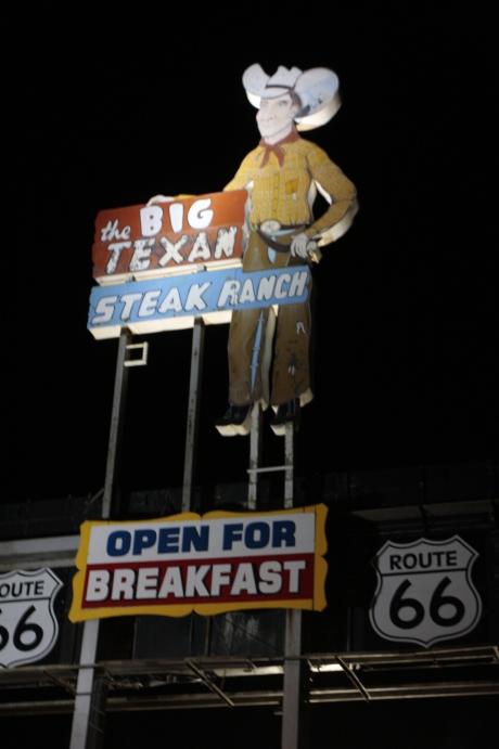Big Texan Steak House Home to the 72 oz steak.