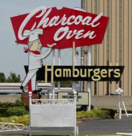 Charcoal Oven Hamburgers.  Serving Burgers since the 30's.