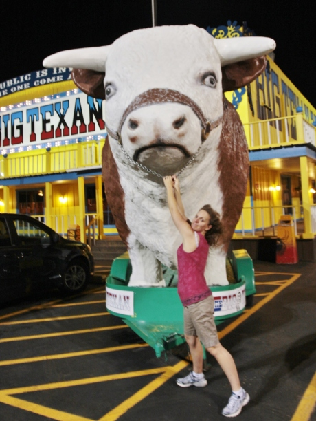 Another angle with the giant cow.