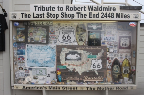Last shop on Route 66.  We bought a post card.