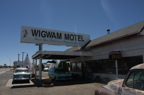 Wigwam Motel.  Inspiration for the Traffic Cone Motel.