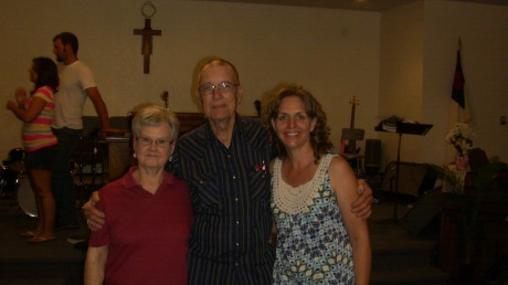 Kristen with her Aunt Dorthy and Uncle Dane.