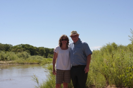 Kristen and Uncle Rick, by the Rio Grande.