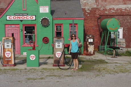 Kristen ready to filler up!