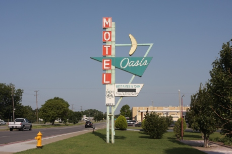 Daytime shot of the Oasis Motel.