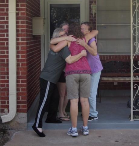 Group hug goodbye